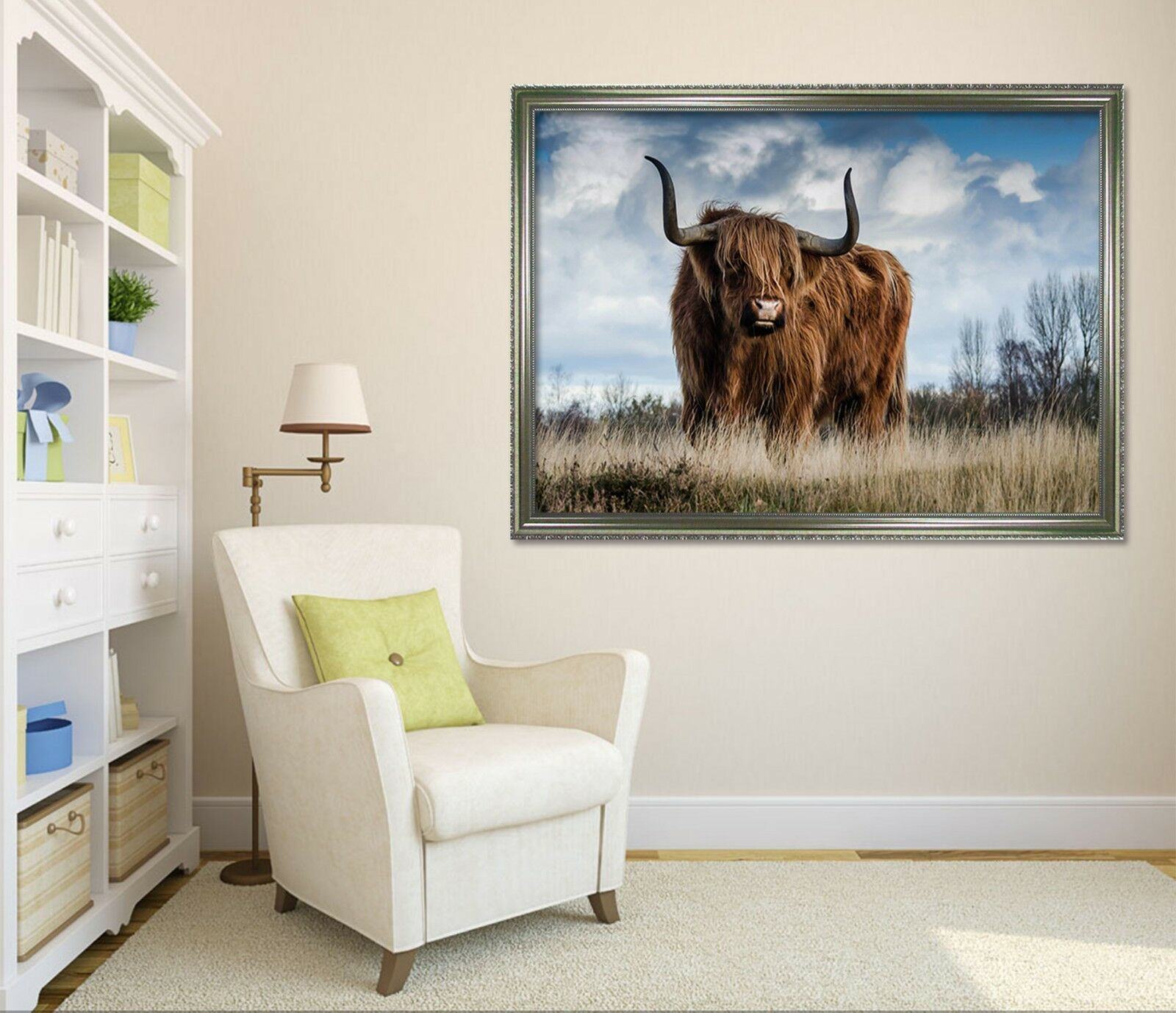 3D Longhorns 6 Framed Poster Home Decor Drucken Painting Kunst AJ WandPapier AU