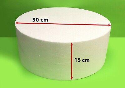 Scheibe Ø 45 Höhe 15 cm Torte Rohling Dummy Hochzeit Cake Pop Grundlage Styropor