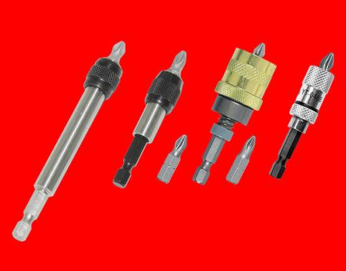 4 x Hochwertige Schnellwechsel Bithalter Für Bohrmaschine /& Akkuschrauber BGS//TP