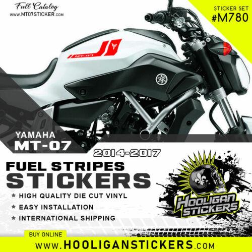M780 Yamaha MT-07 MT twin stripes fuel tank sticker