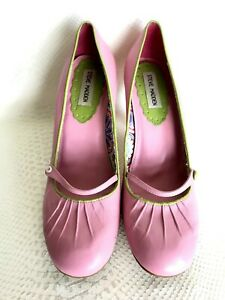 29198f47713 Steve Madden Prezious vintage light pink leather low heel pump shoes ...