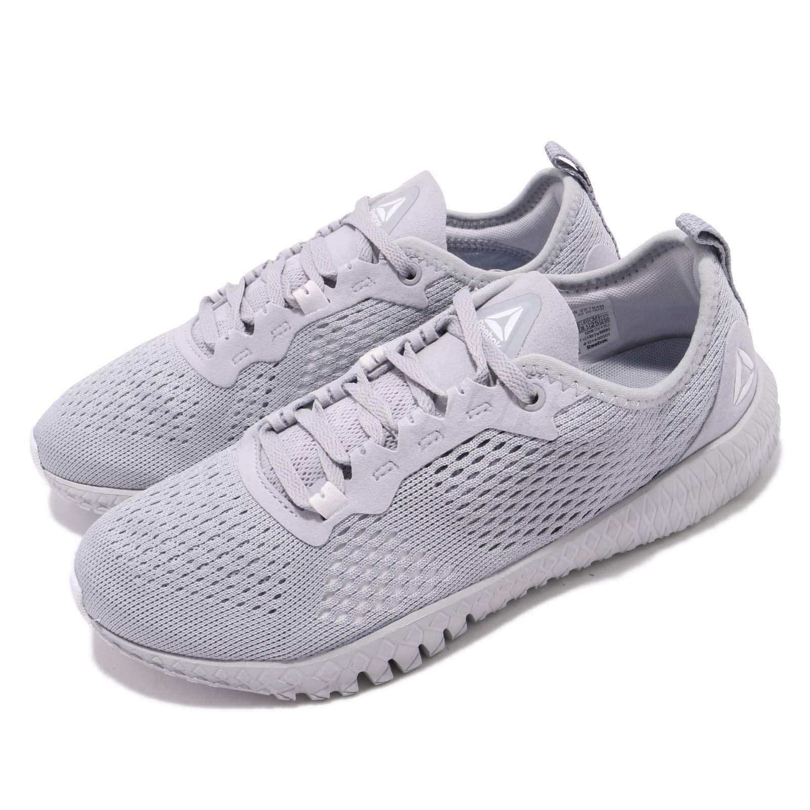 Reebok Flexagon grigio bianca donna Workout Cross Training scarpe scarpe da ginnastica DV4162