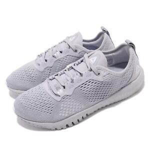 huge selection of 00b57 045ce Image is loading Reebok-Flexagon-Grey-White-Women-Workout-Cross-Training-