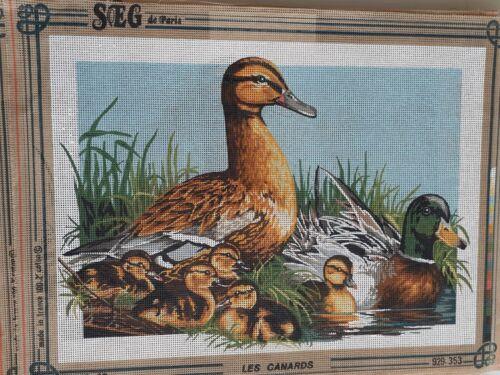"60x45 canvas SEG DE PARIS Printed Needlepoint tapestry canvas 45x60cm 17/""x24/"""