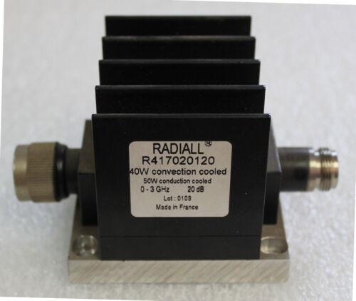 Radiall R417020120 atténuateur passant 40 watts 20 dB