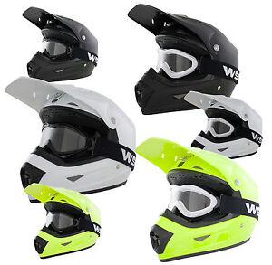 Kids full FACE cycle casque et lunettes enfant bmx downhill mtb crash casque  </span>