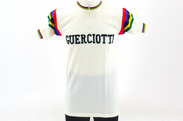 da0586618 Guerciotti Short Sleeve Classic Cycling Jersey Size 3 Made in Italy  L Eroica NOS