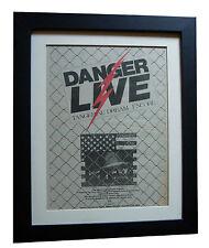 TANGERINE DREAM+Live+Encore+POSTER+AD+FRAMED+ORIGINAL 1977+EXPRESS GLOBAL SHIP