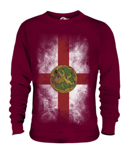 ALDERNEY FADED FLAG UNISEX SWEATER TOP FOOTBALL GIFT SHIRT CLOTHING JERSEY supplier