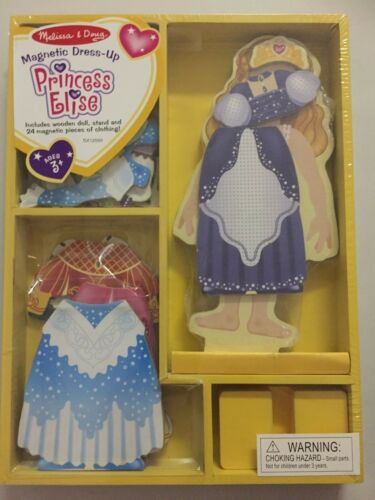 NEW Melissa /& Doug Magnetic Dress-Up Doll Princess Elise NIP
