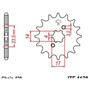 Pignon-acier-11-dents-jt-chaine-420-derbi-50-Jt-sprockets-JTF1128-11