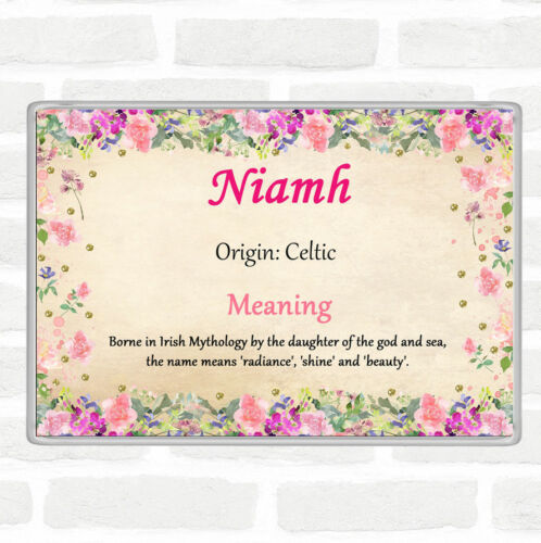 Niamh nom signifiant Jumbo Aimant De Réfrigérateur Motif Floral