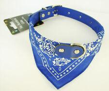 Collier Bleu avec Bandana pour Chien - Tour de cou: 28-38 cm