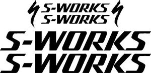 Specialized S-WORKS Bicycle Decal Set MTB//Road Gloss Black