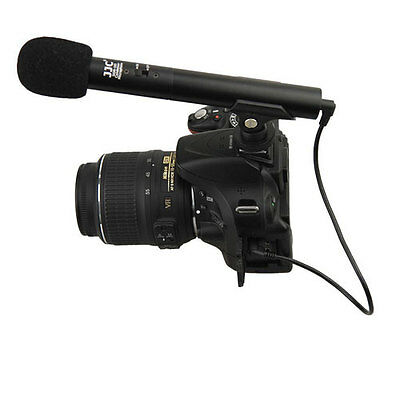 Mini micrófono escopeta JJC para Canon EOS M5 760D 750D 7DM2 5DM3//M4 80D 70D 100D