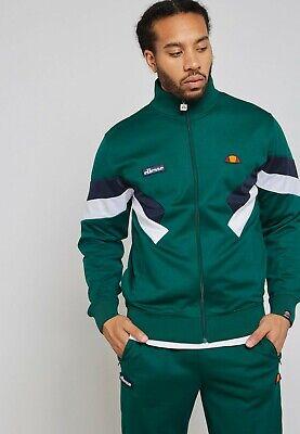 Ellesse Cheroni Jacket Mens Dark Green Full Zip Active Wear SHY03666 DGRN | eBay