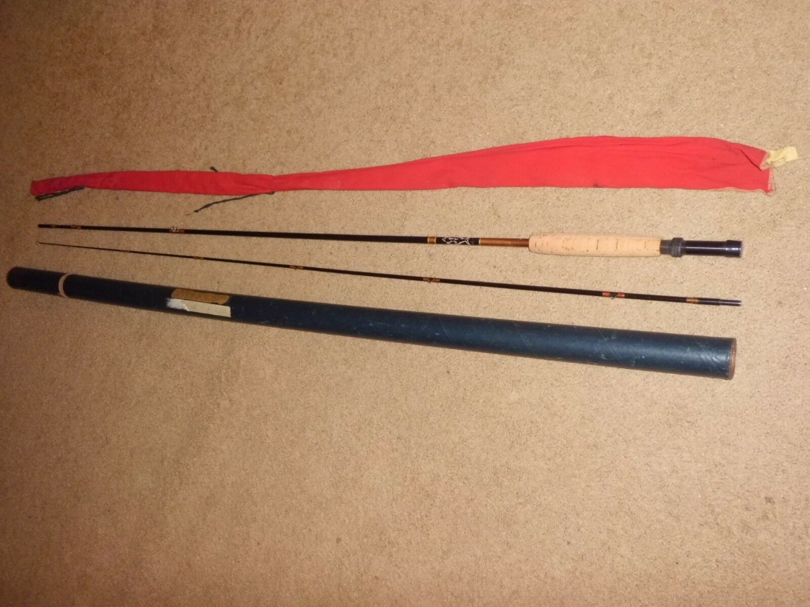 Vintage Harnell 650R Fly 9' Rod made in USA w  Rod Bag & Case
