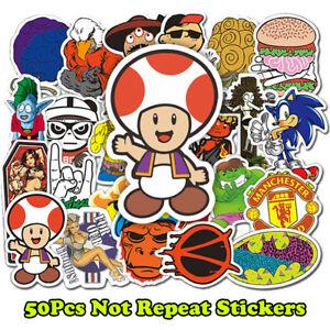 50-Random-Stickers-Vinyl-Skateboard-Guitar-Travel-Case-sticker-pack-decals-Mix