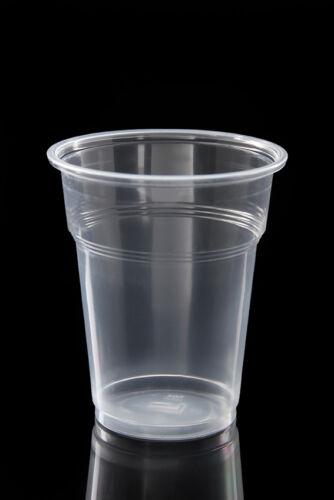 Bierbecher Einweg Plastik Becher 80 Stück Trinkbecher transparent  0,5 Liter