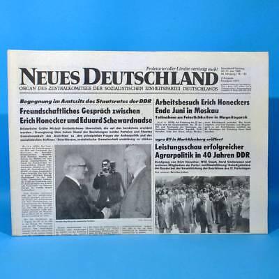 Ddr Neues Deutschland 10./11.06.1989 Juni Zum Geburtstag Hochzeitstag 29. 30. 31 Hochwertige Materialien