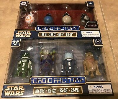 Star Wars Droid Factory 3 set LOT x 4 = 12 NEW Disney Park Last Jedi Solo Celebr