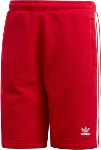 Adidas Originals Men/'s 3 Stripe Shorts Red//White DV1525 d