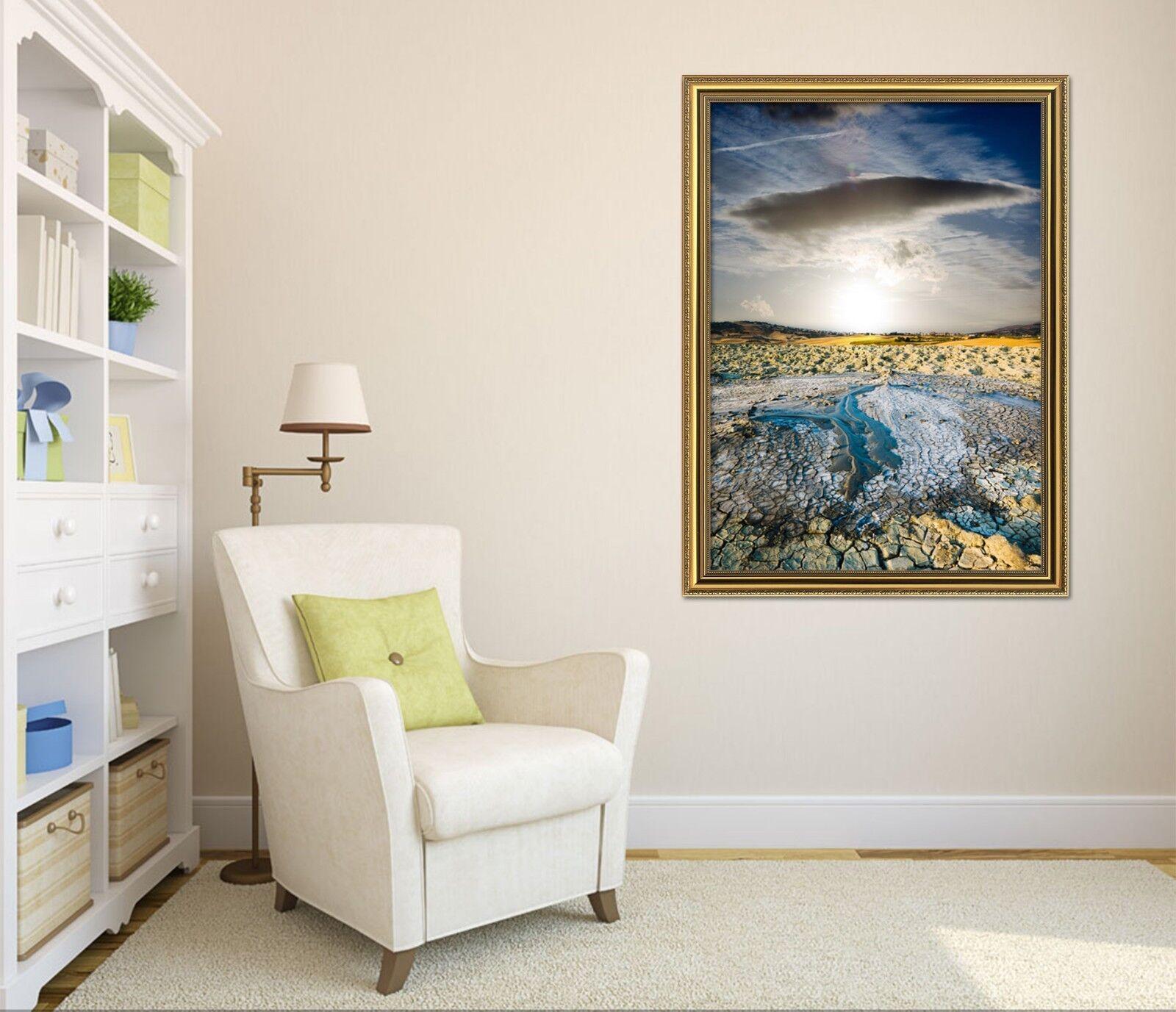 3D horizon des nuages sombres 51 encadrée Poster Home Decor imprimer peinture art AJ UK