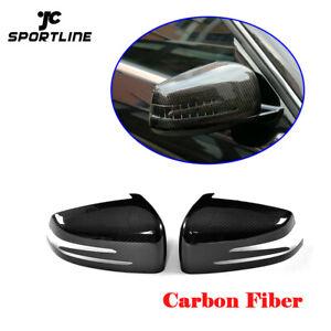 1 Pair Carbon Fiber Side Rearview Mirror Cap Cover Trim Fit for A-Class B-Class C-Class E-Class GLA-Class W204 W212 W221 C117 X156 X204 Rearview Mirror Cover