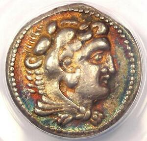 Alexander-the-Great-III-AR-Tetradrachm-Coin-325-324-BC-Ake-ANACS-XF40-Rainbow