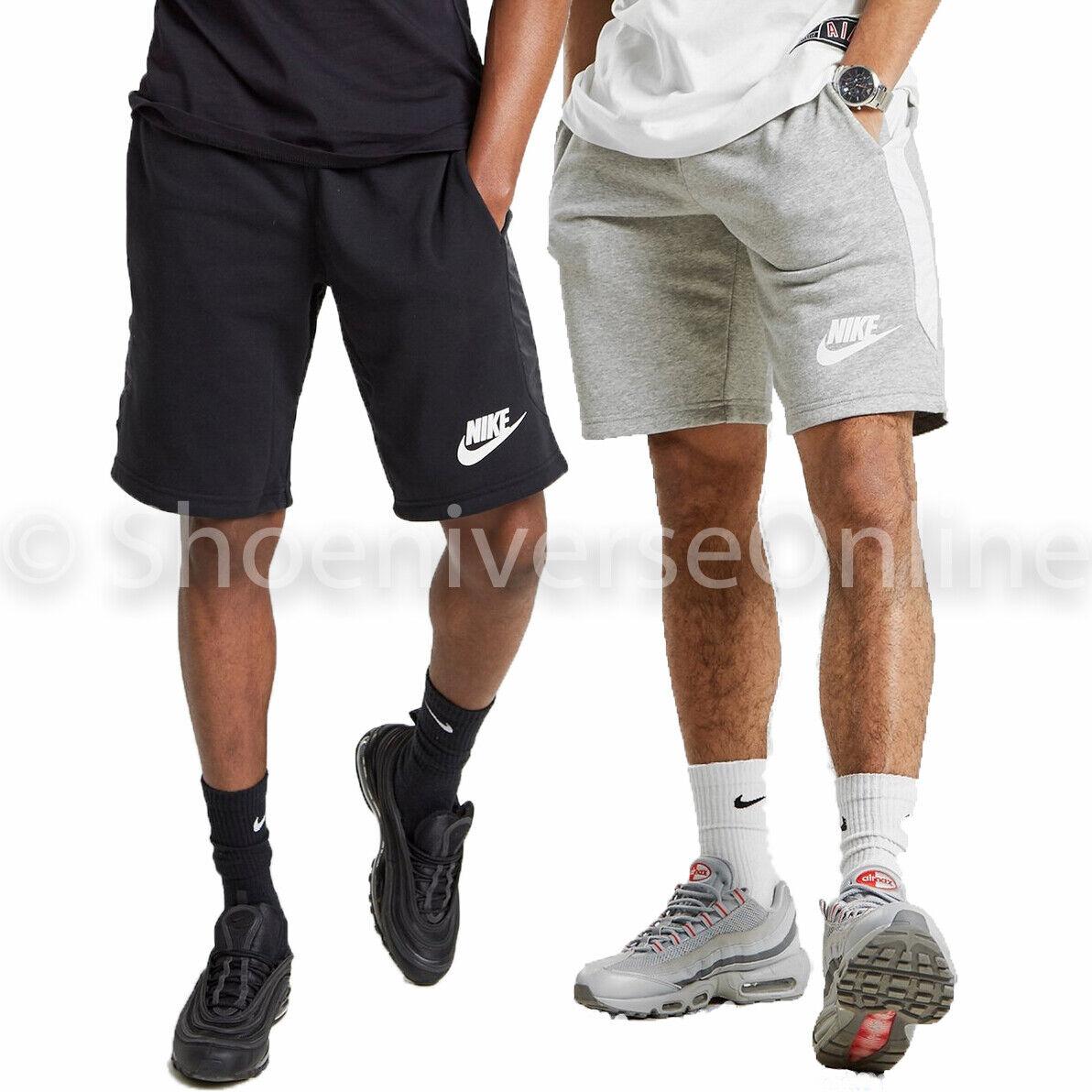 Men's Nike Hybrid Cotton Fleece Shorts Dri FIT Black Grey BV4932 091 063