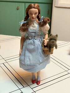 Timeless-Treasures-Dorothy-Wizard-of-Oz-Mattel-Porcelain-Doll-with-Toto