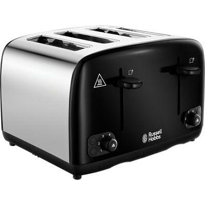 RUSSELL HOBBS Cavendish 24093 4-Slice Toaster - Black - Currys