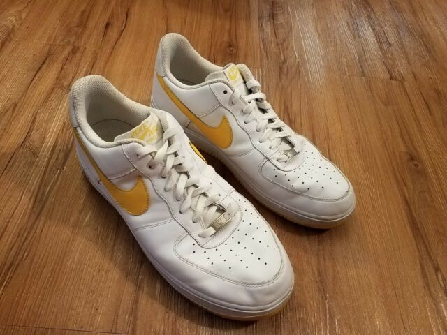 reputable site 18118 65998 Nike Air Force One 1 07 Af1 Low Shoes White Varsity Maize 315122 172 - Mens  14