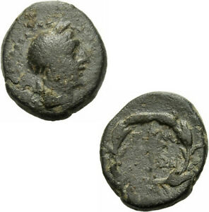 Elaia Aiolis Bronze 2./1. Jhdt.v.chr. Demeter Fackel Ährenkranz Sng V. Aul. 7685