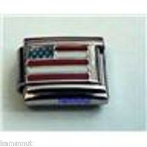 AMERICAN FLAG #K2 WHOLESALE ITALIAN CHARM IN 9MM | eBay