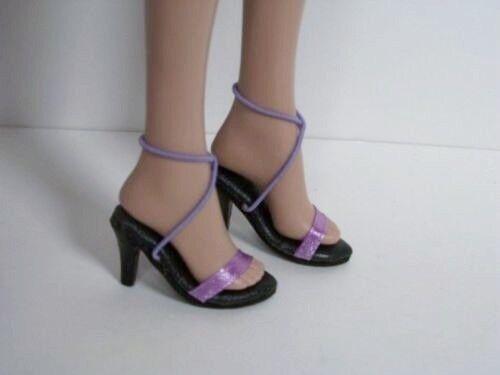 """Debs LAVENDER Ribbon Sandals High Hi Heel Doll Shoes FOR 16/"""" Tyler Wentworth"""