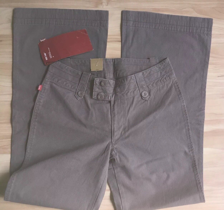 NWT Vintage Starlet Womens Mocha Coloured Wide Leg Jeans W29 L33