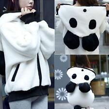 Women Winter Warm Casual Fleece Hooded Hoodie Outwear Panda Bear Jacket Coat New