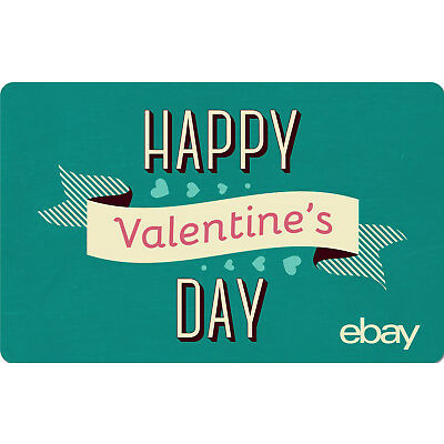 eBay eGift Card - Happy Valentine's Day Green $25 $50 $100 or $200 - Email