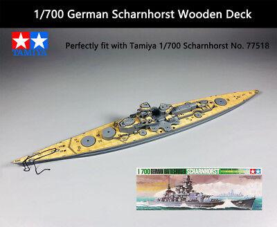 Shipyard 700014 1//700 Wood Deck German Scharnhorst for Tamiya