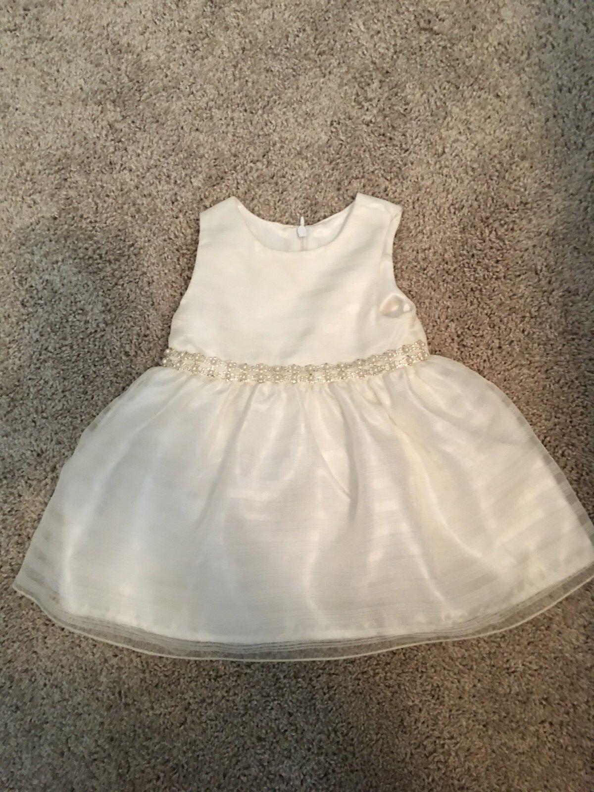 Baby Girl Flower Girl Dress - Ivory- Size 12M