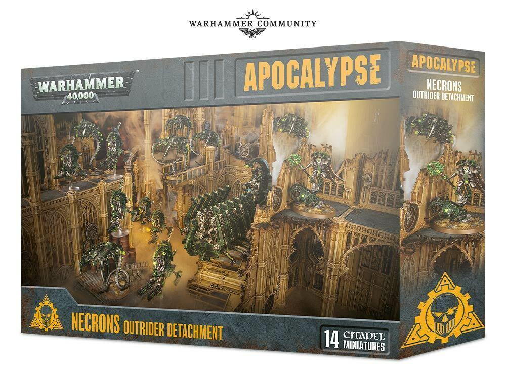 Warhammer 40k Apocalypse Necrons OutRider Detachmänt in Stock