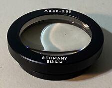 Leitz A 020 S95 Microscope Condenser Lens For Labovert Inverted Microscope