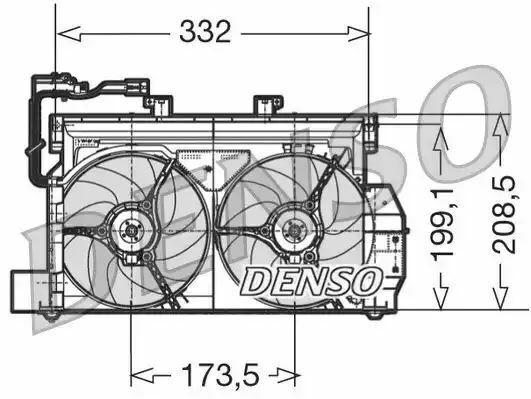 Denso DER07001 Motore Ventola Raffreddamento Ricambio 9632768380