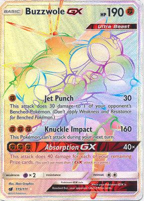 Ultra Rare 57 Pokémon TCG Buzzwole GX SM - Crimson Invasion