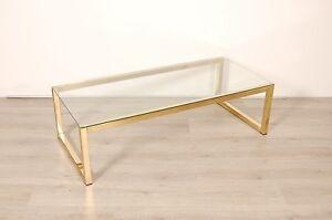 Tavolini Da Salotto In Cristallo : Tavolino da salotto in vetro e ottone design anni ebay