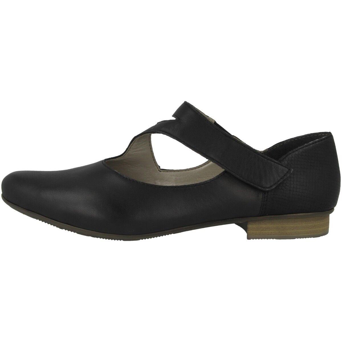 Rieker Lugano-Snake Schuhe Damen Ballerinas Halbschuhe Antistress schwarz 51993-00
