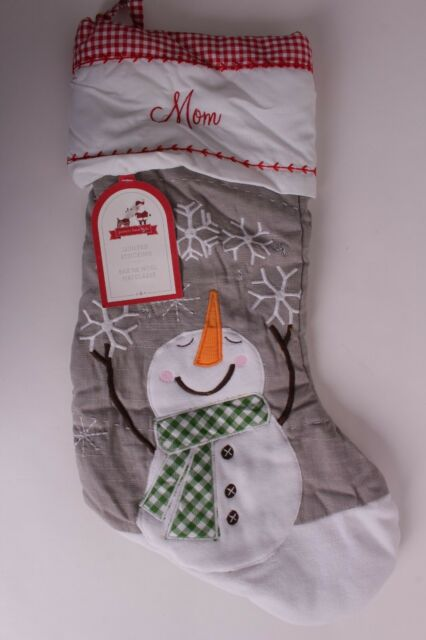 Nwt Pottery Barn Kids Gray Quilted Stocking Christmas