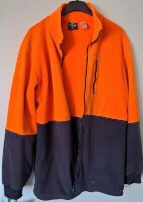 2019 Ultimo Disegno Jackeroo: Arancione/blu, In Pile-stile, Giacca Con Cerniera, Taglia Large-mostra Il Titolo Originale Il Prezzo Rimane Stabile
