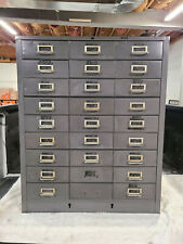 Vintage 27 Drawer Metal Parts Cabinet Cole Steel Steelmaster Apothecary